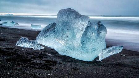 View of an Iceberg on Jokulsarlon Beach