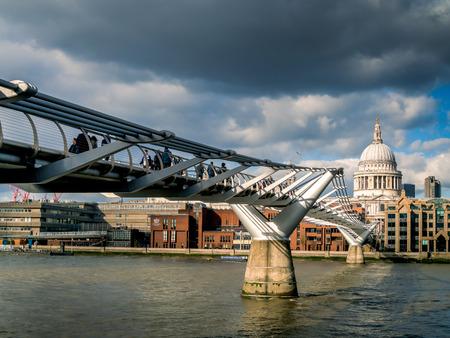 st pauls: Millennium Bridge and St Pauls Cathedral