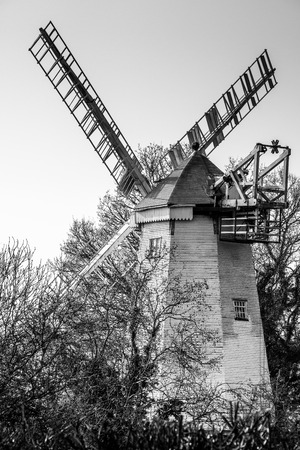 wind powered building: Kings Mill or Vincents Mill at Shipley in West Sussex