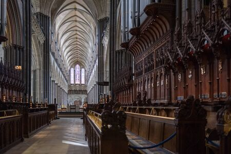 Interior View of Salisbury Cathedral Editorial