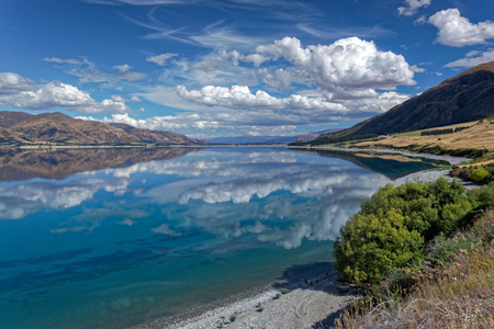 Scenic View of Lake Hawea