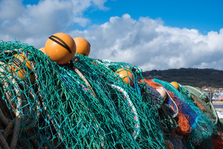 Fishing Nets on the Quay at Lyme Regis