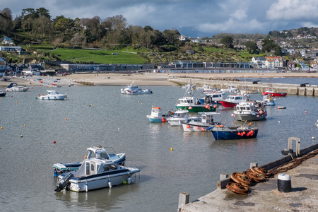 Boats in the Harbour at Lyme Regis