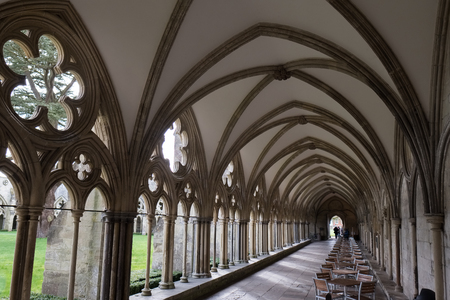 Cloisters at Salisbury Cathedral Editorial