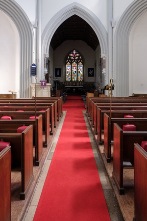 Interior of St Marys Church in Micheldever Editorial