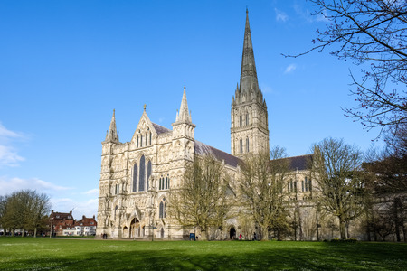 Exterior View of Salisbury Cathedral