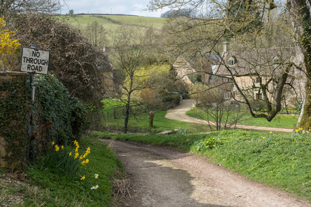 cotswold: Scenic View of Upper Slaughter Village