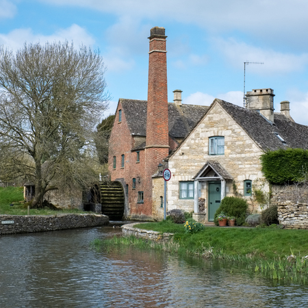 Scenic View of Lower Slaughter Village in the Cotswolds