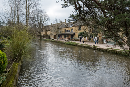 Tourists Wandering around Bourton-on-the-Water