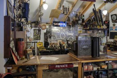 gb: Old Shop in the Motor Museum at Bourton-on-the-Water