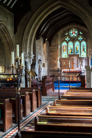 Interior View of St. Marys Church in Lower Slaughter