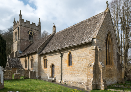View of St. Peters Church in Upper Slaughter Stock Photo