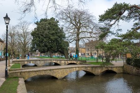 Tourists Wandering around Bourton-on-the-Water