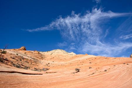 jet stream: Formación de nubes extrañas en el Parque Nacional Zion