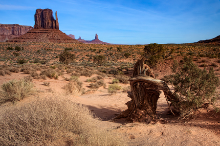 Scenic View of Monument Valley Stock Photo