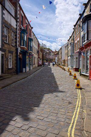 Street Scene in Staithes Imagens