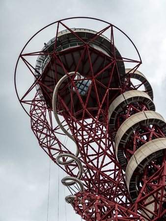 The ArcelorMittal Orbit Sculpture at the Queen Elizabeth Olympic Park in London