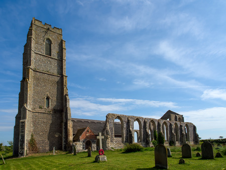 St Andrews Covehithe with Benacre Church in Covehithe Stock Photo