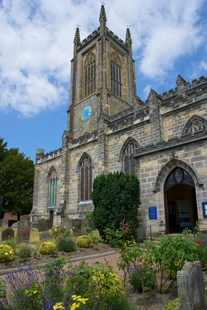 EAST GRINSTEAD, WEST SUSSEXUK - JUNE 17 : St Swithuns Church in East Grinstead on June 17, 2017