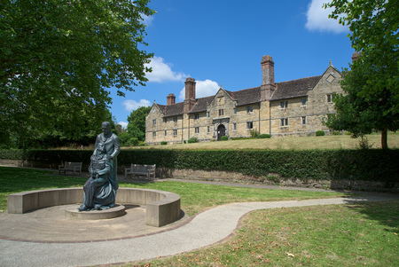 almshouse: EAST GRINSTEAD, WEST SUSSEXUK - JUNE 17 : McIndoe Memorial in East Grinstead on June 17, 2017 Editorial