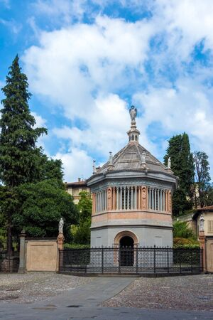 BERGAMO, LOMBARDYITALY - JUNE 25 : Baptistery of Santa Maria Maggiore in Bergamo on June 25, 2017