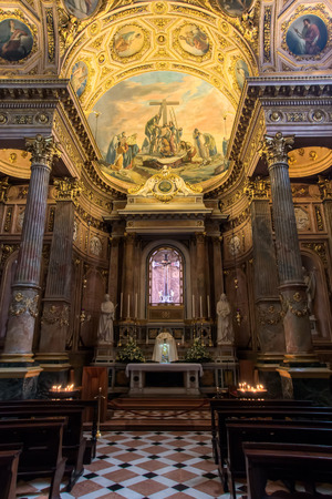 BERGAMO, LOMBARDYITALY - JUNE 25 : Interior View of the Cathedral of St Alexander in Bergamo on June 25, 2017