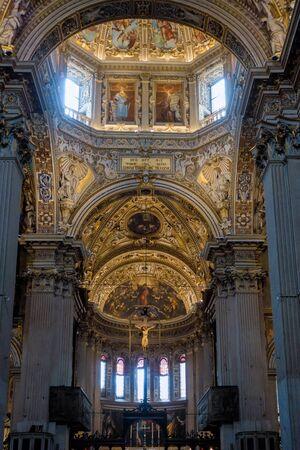 BERGAMO, LOMBARDYITALY - JUNE 25 : Interior View of  the Basilica di Santa Maria Maggiore in Bergamo on June 25, 2017 Editorial