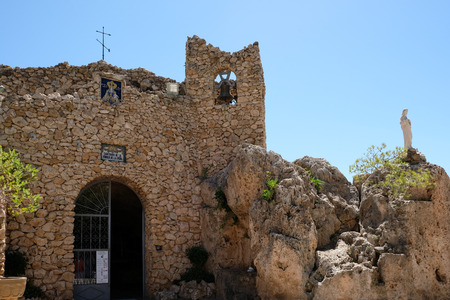 MIJAS, ANDALUCIASPAIN - JULY 3 : Sanctuary of the Virgin de la Pena in Mijas Andalucía Spain on July 3, 2017 Editorial
