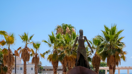 FUENGIROLA, ANDALUCIASPAIN - JULY 4 : Lady of the Sea Statue in Fuengirola Costa del Sol Spain on July 4, 2017