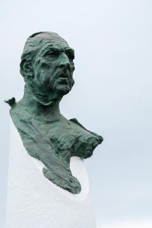 conde: PUERTO BANUS, ANDALUCIASPAIN - JULY 6 : Monument Dedicated to Don Juan de Borbon in Puerto Banus Spain on July 6, 2017