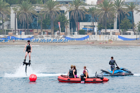 MARBELLA, ANDALUCIASPAIN - JULY 6 : People Enjoying watersports at Marbella Spain on July 6, 2017. Unidentified people Editorial