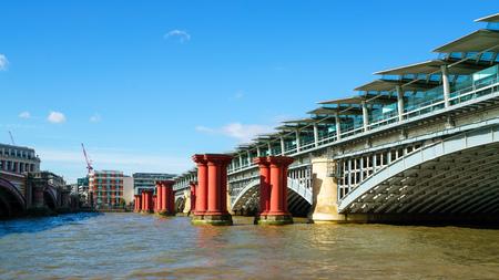 LONDON - JULY 27 : View of Blackfriars Bridge in London on July 27, 2017