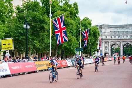 LONDON - JULY 30 : Ride London Event in London on July 30, 2017. Unidentified people
