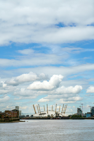 LONDON - JULY 30 : View of the O2 Building in London on July 30, 2017
