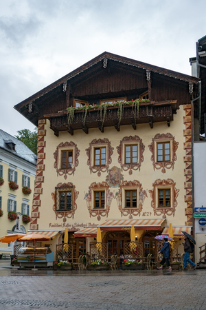 Highly Decorated Building and Restaurant in St Wolfgang Editorial
