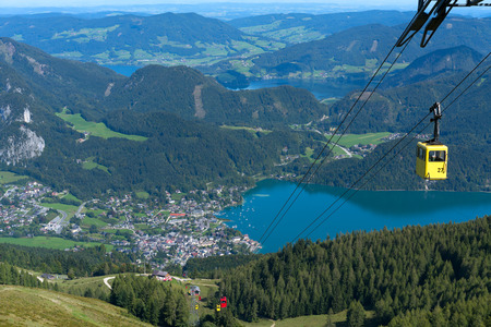 Zw�lferhorn Mountain Cable Car Running down to St Gilgen