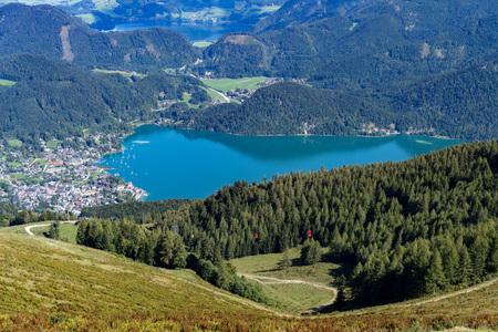 wolfgang: View from Zwölferhorn Mountain down to St Gilgen