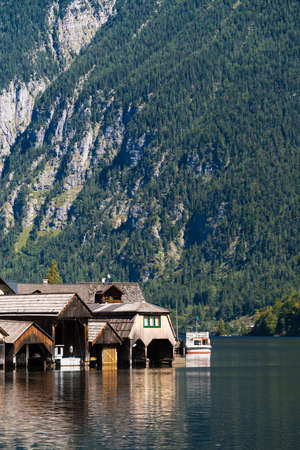 A Sunny Day beside the Lake at Hallstatt