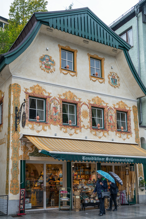 Highly Decorated Building and Shop in St Wolfgang