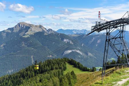 Zwölferhorn Mountain Cable Car Running down to St Gilgen
