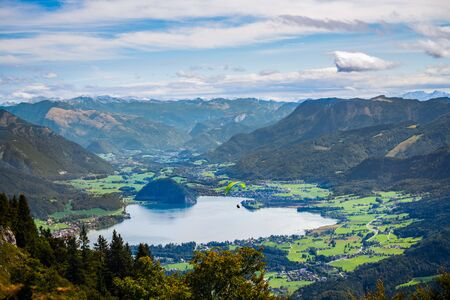 wolfgang: View of the Countryside from Zwölferhorn Mountain Stock Photo