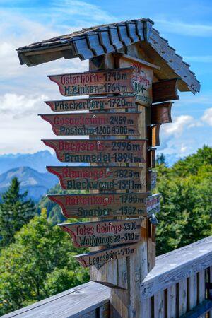 wolfgang: Distance Sign on  Zw�lferhorn Mountain