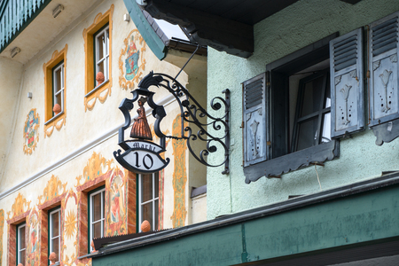 Highly Decorated Building and Shop Sign in St Wolfgang