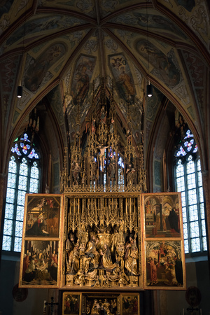 Interior View of St. Wolfgang Parish and Pilgrimage Church