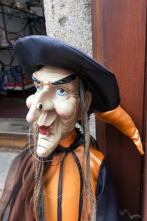 Witch Mannequin in a Street in Krumlov