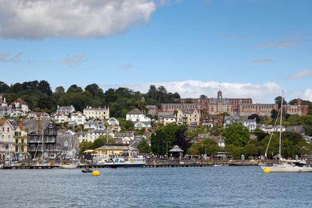 KINGSWEAR, DEVONUK - JULY 28 : View across the River Dart to Dartmouth in Devon on July 28, 2012. Unidentified people