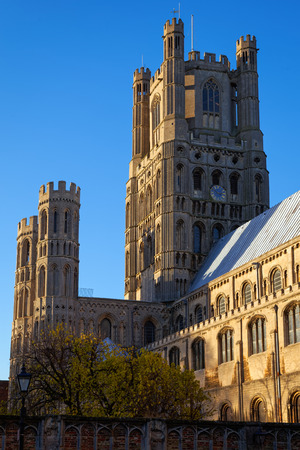 ELY, CAMBRIDGESHIREUK - NOVEMBER 23 : Exterior view of Ely Cathedral in Ely on November 23, 2012
