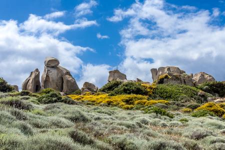 Unusual Rock Formation near the Sea at Capo Testa Sardinia