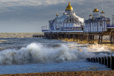 EASTBOURNE, EAST SUSSEXUK - JANUARY 7 : View of Eastbourne Pier in East Sussex on January 7, 2018 England