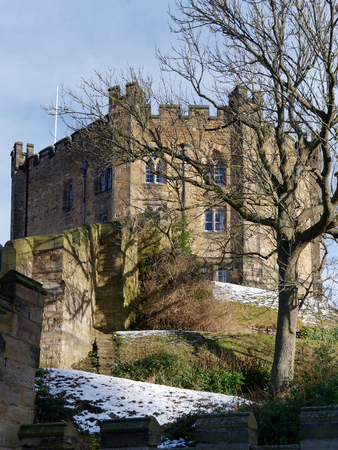 DURHAM, COUNTY DURHAMUK - JANUARY 19 : View of the Castle in Durham, County Durham on January 19, 2018